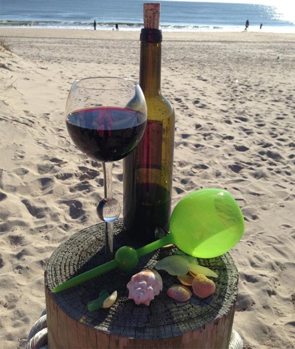 calici da vino per spiaggia