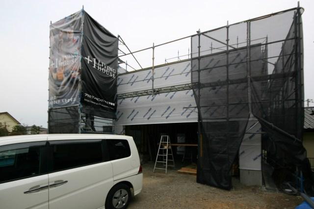 プラスワンリビングハウスの建て方完了