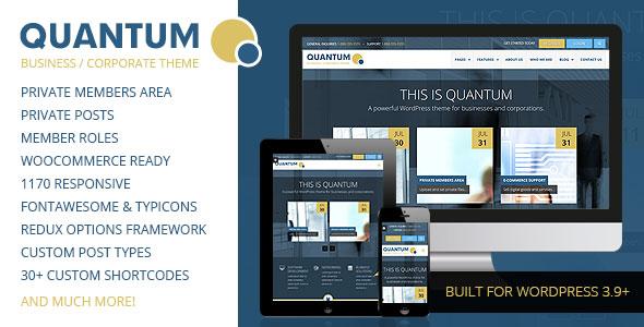 QUANTUM - Responsive Business WordPress Theme v2.0.6