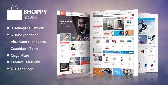 ShoppyStore - Responsive VirtueMart 3 Template v1.1.0