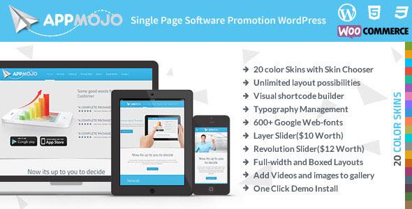 App Mojo - Responsive Single Page Promotion Theme v3.2