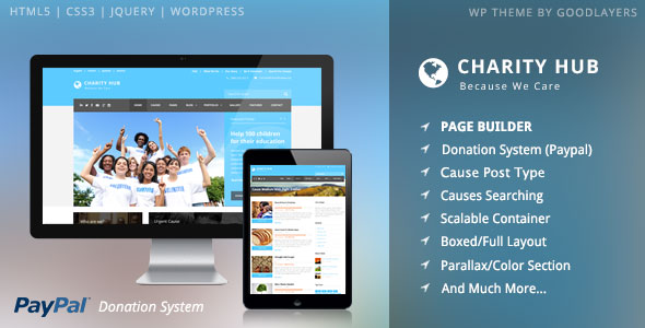 Charity Hub - Charity / Nonprofit / Fundraising WP v1.21