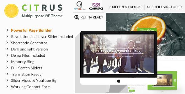 Citrus - Creative One Page Multi-Purpose Theme v2.2
