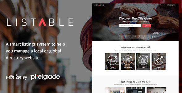 LISTABLE – A Friendly Directory WP Theme v1.9.3