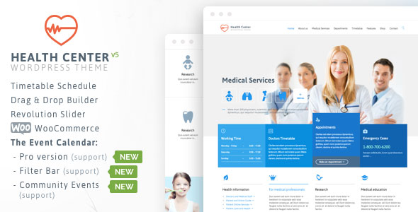 Health Medical Center - Responsive Theme v19.1