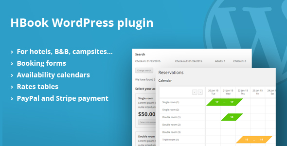 HBook - Hotel booking system - WordPress Plugin v1.8.5