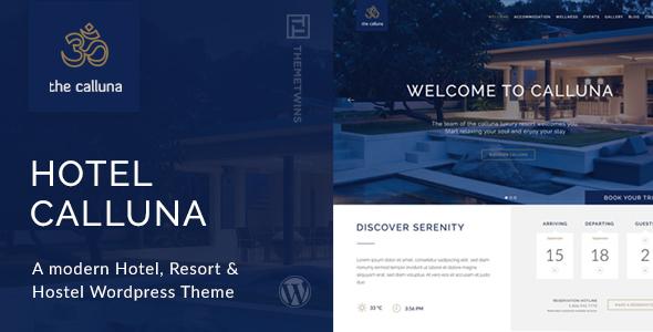 Hotel Calluna - Hotel & Resort & WordPress Theme v3.2.0