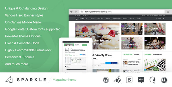 Sparkle v2.1.0 – Outstanding Magazine Theme for WordPress