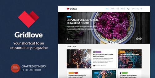 Gridlove v1.5 - Creative Grid Style News & Magazine WordPress Theme