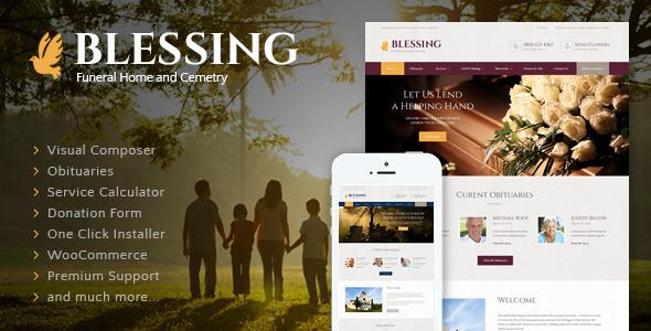 Blessing - Funeral Home WordPress Theme v2.1