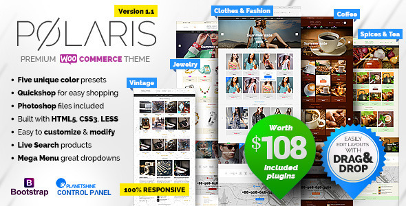 Polaris v1.1.23 - Minimal & Powerful Multipurpose WooCommerce Theme