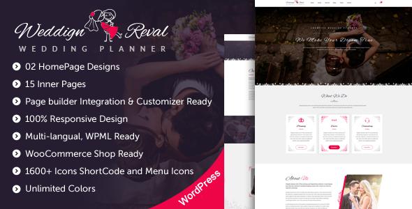 Wedding Reval v1.0 - Wedding Planner & Agency WordPress Theme