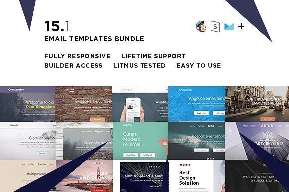 CreativeMarket - 15 Email templates bundle + Builder