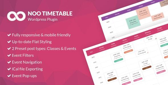 Noo Timetable v2.0.4.2 - Responsive Calendar & Auto Sync WordPress Plugin