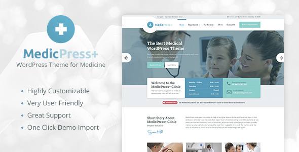 MedicPress v1.7.0 - Medical WordPress Theme for Clinics