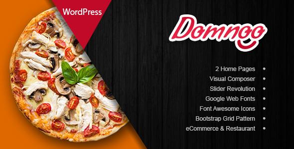 Domnoo v1.8 - Pizza & Restaurant WordPress Theme
