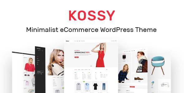 Kossy v1.7 - Minimalist eCommerce WordPress Theme