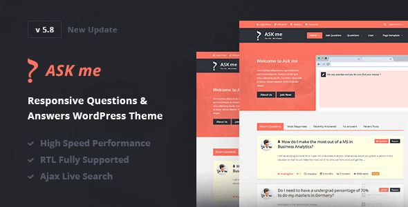 Ask Me v5.8 - Responsive Questions & Answers WordPress