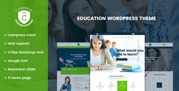 Campress v1.3 - Responsive Education, Courses and Events