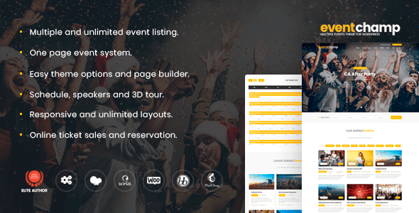 Event Champ v1.8.5 – Multiple Events & Conference WordPress Theme