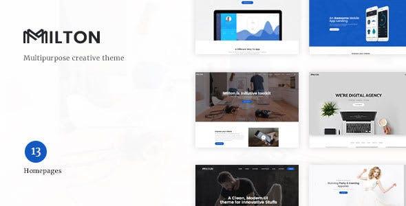 Milton v1.1.4 - Multipurpose Creative WordPress Theme