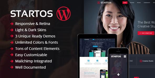 Startos v1.4.5 - Modern App Landing Page WordPress Theme