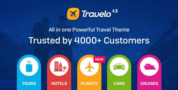 Travelo v4.0.0 - Travel/Tour Booking WordPress Theme