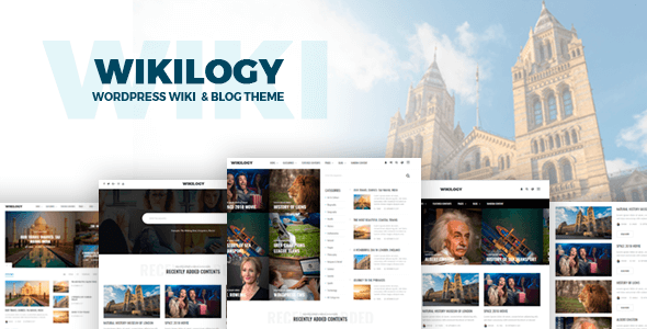 Wikilogy v1.2.1 - Wiki & Blog WordPress Theme