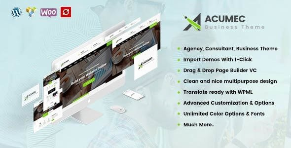 Acumec v1.1 - Business Multipurpose WordPress Theme