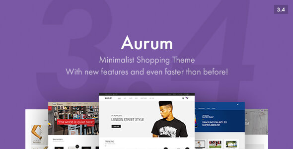 Aurum v3.4.4 - Minimalist Shopping Theme