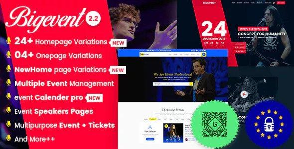 BigEvent v2.2.7 - Conference Event WordPress Theme