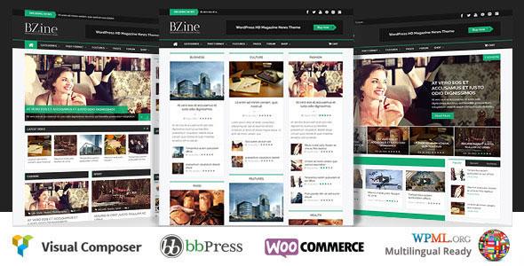 Bzine v2.0 - WordPress Premium HD Magazine Theme