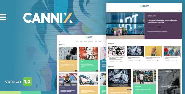 Cannix v1.3.1 - A Vibrant WordPress Theme