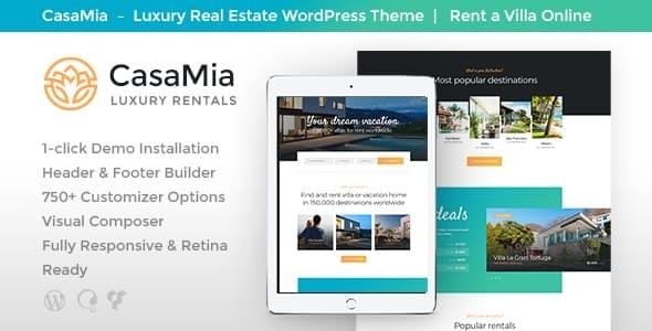 CasaMia v1.1.1 - Property Rental WordPress Theme