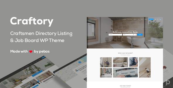 Craftory v1.3.0 - Directory Listing Job Board Theme