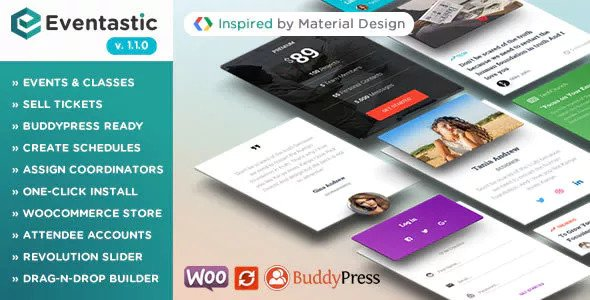 Eventastic v1.1.0 - Multipurpose Theme for Events & Classes