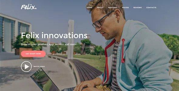 Felix v1.0.2 - Startup Landing Page WordPress Theme