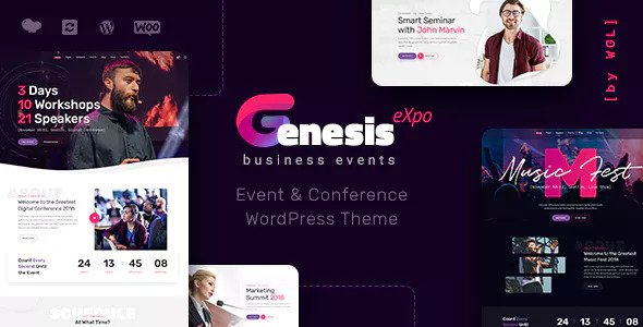 GenesisExpo v1.0.14 - Business Events & Conference Theme
