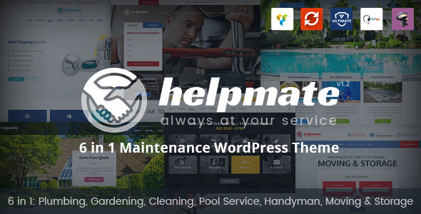 Helpmate v1.1.1 - 6 in 1 Maintenance WordPress Theme