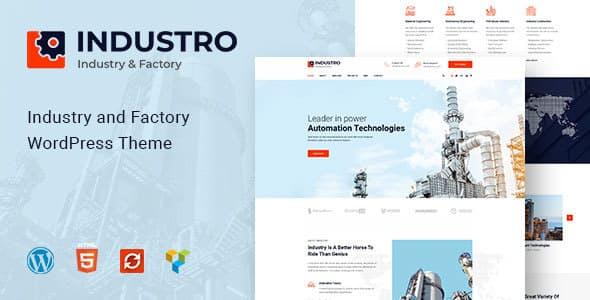 Industro v1.0.3 - Industry & Factory WordPress Theme