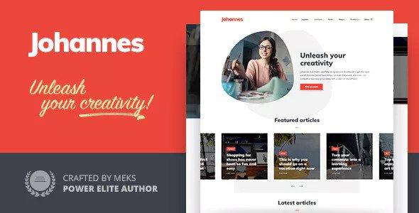 Johannes - Multi-concept Personal Blog & Magazine