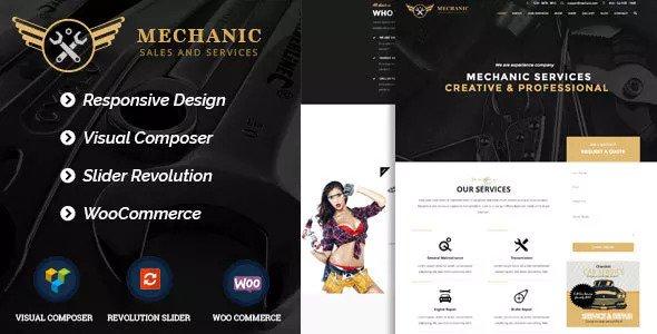 Mechanic v1.0.1 - Car Service & Workshop WordPress Theme