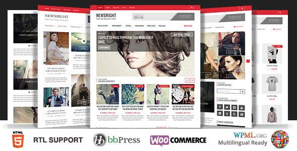 Newsright v1.3.4 - WordPress Premium HD News & Magazine