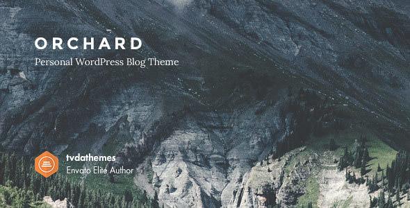 Orchard v1.0.6 - Personal WordPress Blog Theme