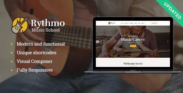 Rythmo v1.0.1 - Music School WordPress Theme