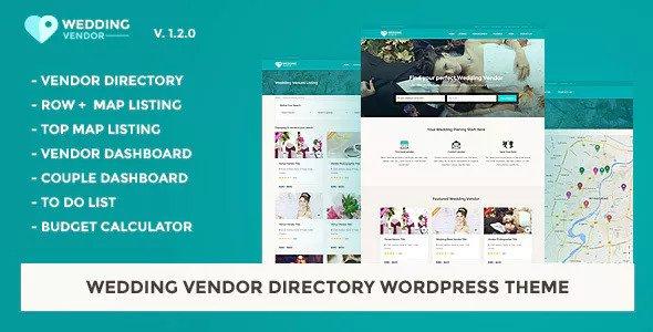 Wedding Vendor v1.2.1 - Vendor Directory WordPress Theme