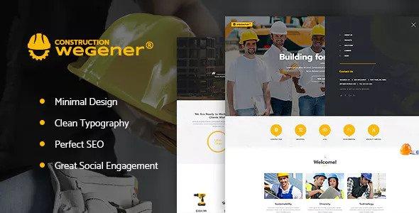 Wegener v1.1 - Construction & Engineering WordPress Theme