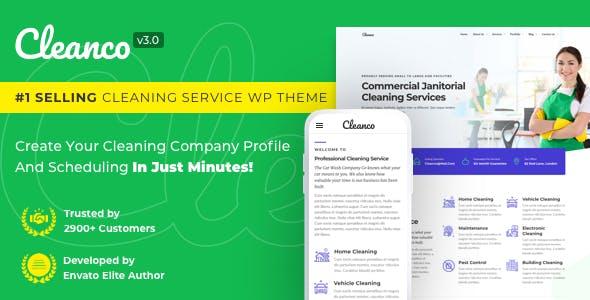 Cleanco v3.0.0 - Cleaning Company WordPress Theme