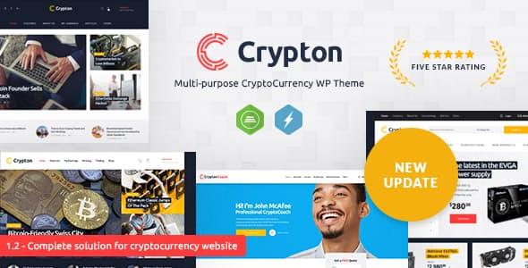 Crypton v1.6 - A Multi-Purpose Cryptocurrency WordPress Theme