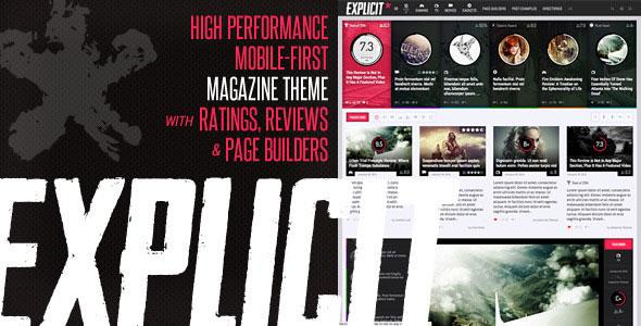 Explicit v2.6 - High Performance Review/Magazine Theme